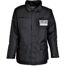 Parka agent de sécurité imperméable chaude hiver