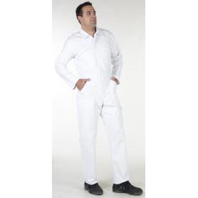 Combinaison de peintre blanche en 100% coton