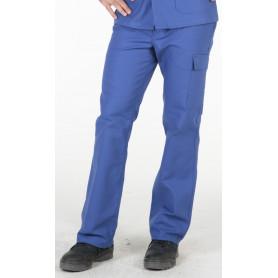 Pantalon de travail 100% coton bleu