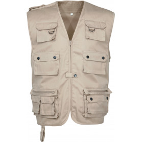 Gilet reporter reporter multipoches