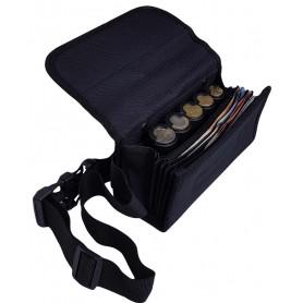 Sacoche de service TISSU poche zippée et monnayeur 5 PIÈCES Euro
