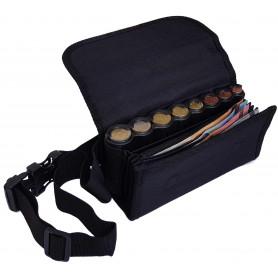 Sacoche de service TISSU poche zippée et monnayeur 8 PIÈCES Euro
